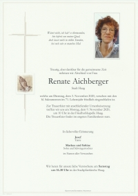 Aichberger Renate, Haag