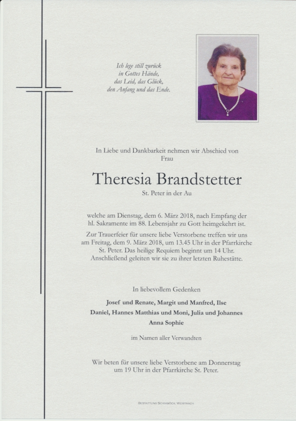 Brandstetter Theresia, St. Peter/Au